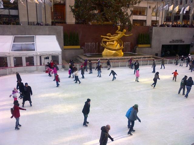 Skating at Rockefeller Center